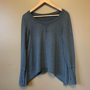Lululemon high-low hem crew neck